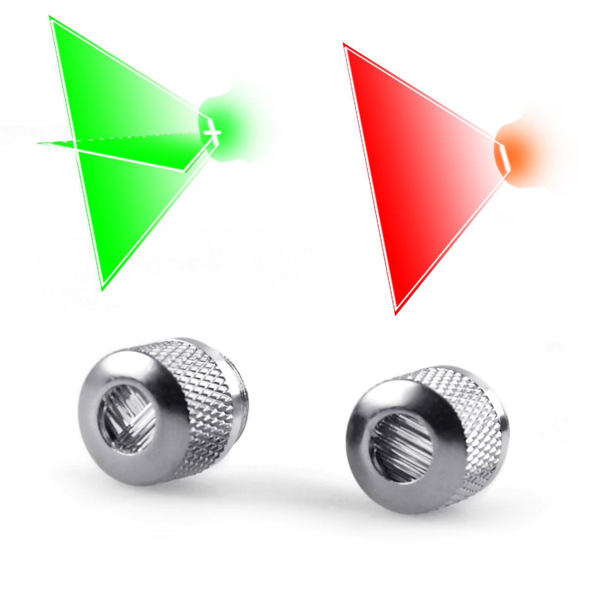 Line Beam / Cross Beam Head Cap for Laser Pointers and Laser Level (Silver)