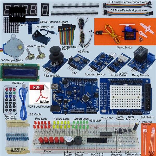 Nouveau bricolage unité électrique de haute qualité meilleur prix ultime Kit de démarrage pour Arduino 1602 LCD Servo moteur LED relais RTC kit électronique