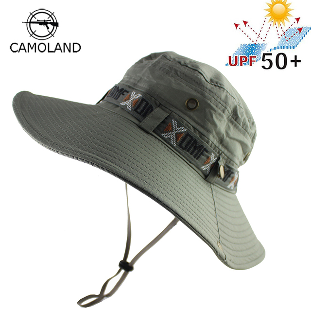 0dd08764b96 UPF 50+ Bucket Hat Summer Men Women Boonie Hat Outdoor UV Protection Wide  Brim Military