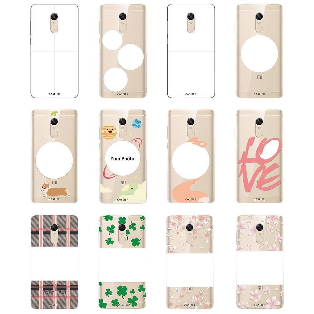 CASEIER DIY Unique Phone Case For xiaomi For xiaomi redmi 4 4x 4A note 4x MIX Silicone TPU Cases For Redmi 3s Note Pro 5X S Case