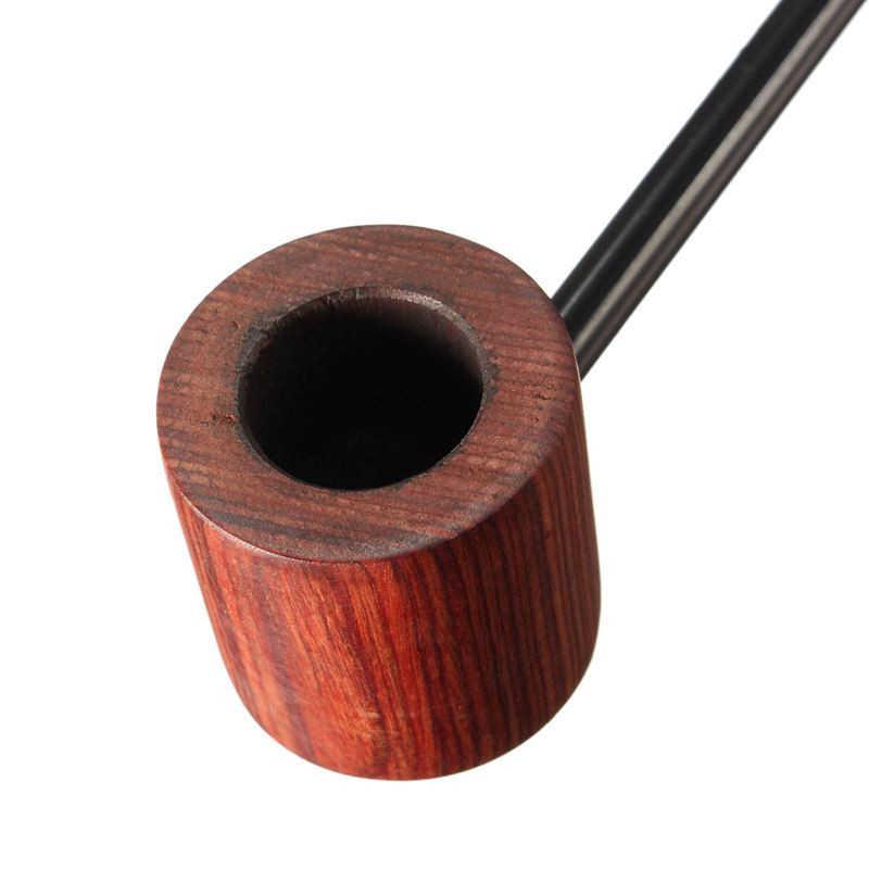 新到着! 黒檀木製パイプ喫煙パイプポータブル喫煙パイプたばこパイプグラインダー煙ギフト黒/コーヒー 2 色