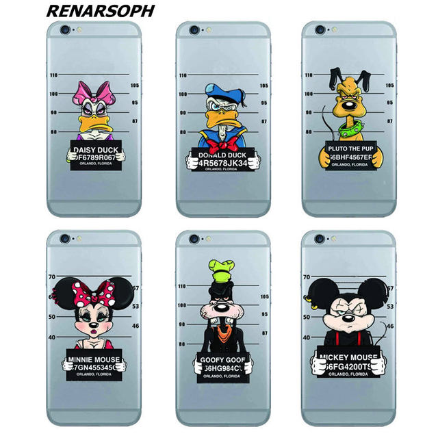 Bad Dasisy Donald Duck Pluto Pup Goofy Goof Minie Mickey Mouse Phone Case For IPhone 4