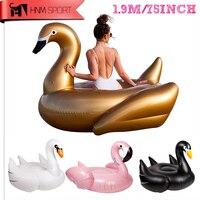 75 дюймов 1.9 м гигантский Swan надувной фламинго ездить на бассейн игрушка поплавок надувные Лебедь бассейн Плавание кольцо праздник вода Fun ба