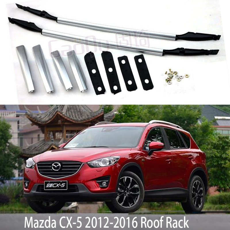 Pour Mazda CX-5 2012-2016 Toit Rack Rails Bar Porte-Bagages Bars top Racks Rail Boîtes En alliage D'aluminium OEM style