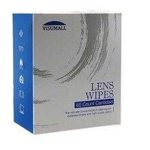 VISUMALL soluções de limpeza Profissional 60 contagens pré-umedecido espetáculo limpa kit de limpeza de lentes de microfibra lcd limpo