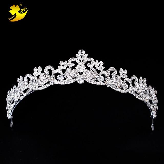 Xinyun Wedding Hair Tiaras Shining Rhinestones Cheveux Coroa Princesa Beautiful