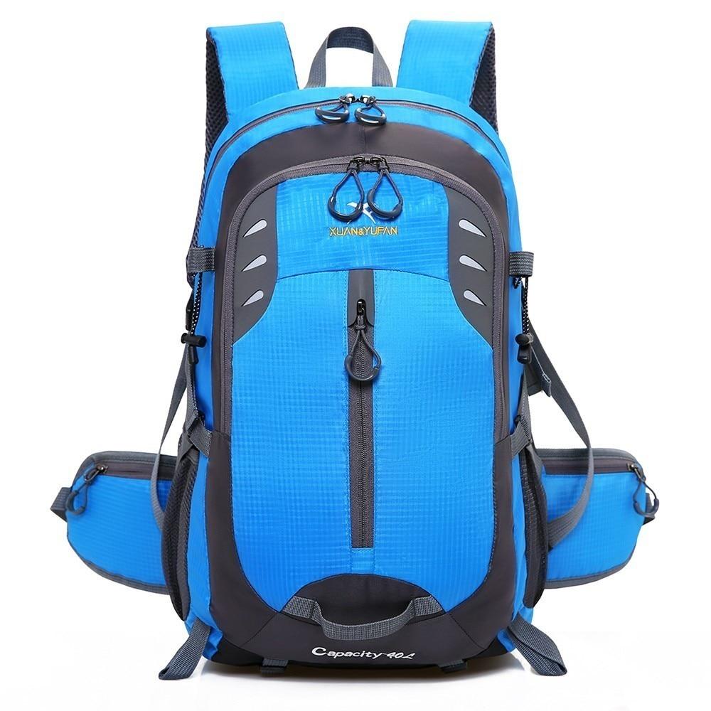 45L Waterproof Nylon Camping Travel Bags Outdoor Sport Backpack Men Cycling Rucksack Women Mountaineering Hiking Trekking Bag