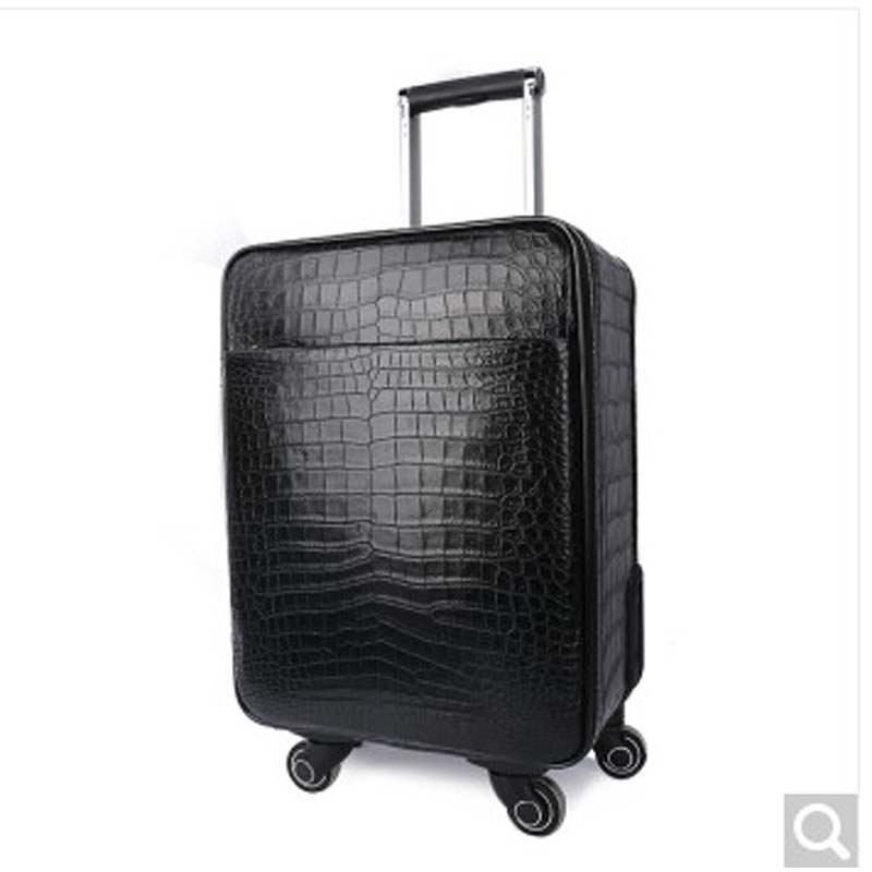 weitasi Crocodile leather suitcase suitcase boarding box 20-inch lever case can be brought on board crocodile belly men luggage