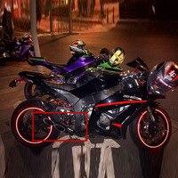Motorcycle Exhaust Muffler Carbon Fiber Double Down Slip On Escape Moto FOR YAMAHA R6 2006~2016 TOCE Exhasut Muffler YA001