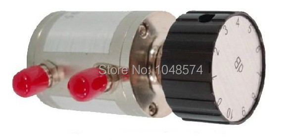 Free Shipping DC-6GHz  2W  0~10dB  1dB Step Adjustable  Rotary Coaxial  Attenuator (SMA female connector)