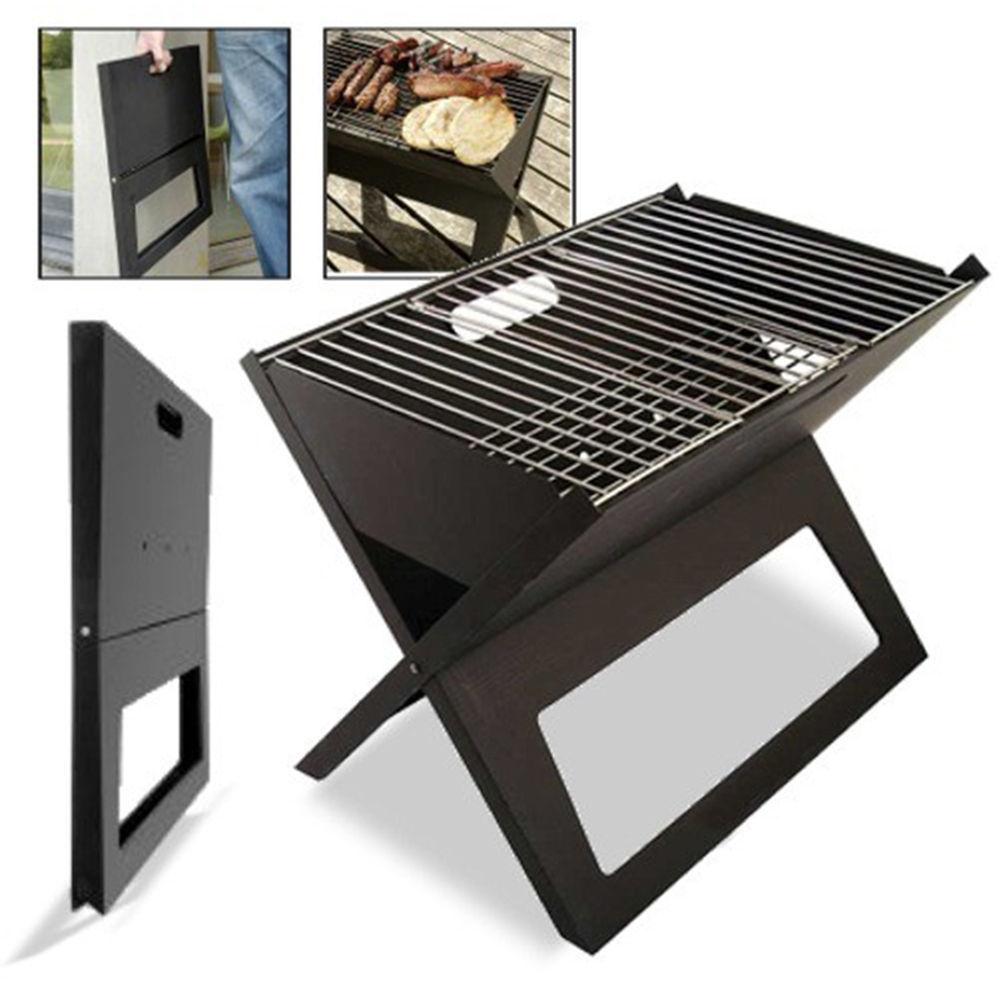 Gril pliant, Barbecue à charbon de bois Barbecue Portable épaissir x-type carbone Mini gril Vertical ménage extérieur four grilles de Camp