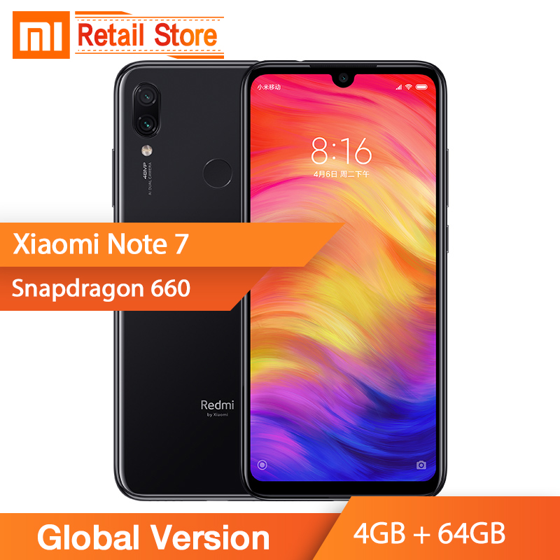 "Global Version Xiaomi Redmi Note 7 4G+64GB 48+5MP Camera Snapdragon 660 Octa Core 6.3"" Full Screen Cellphone smartphone(China)"
