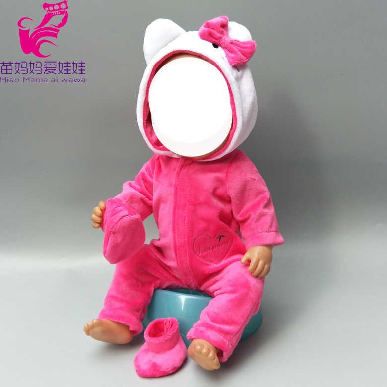 Жакет для куклы для 43 см Одежда для куклы-младенца 17 дюймов bebe куклы пижамный комплект одежда куклы зимняя куртка и брюки девочек