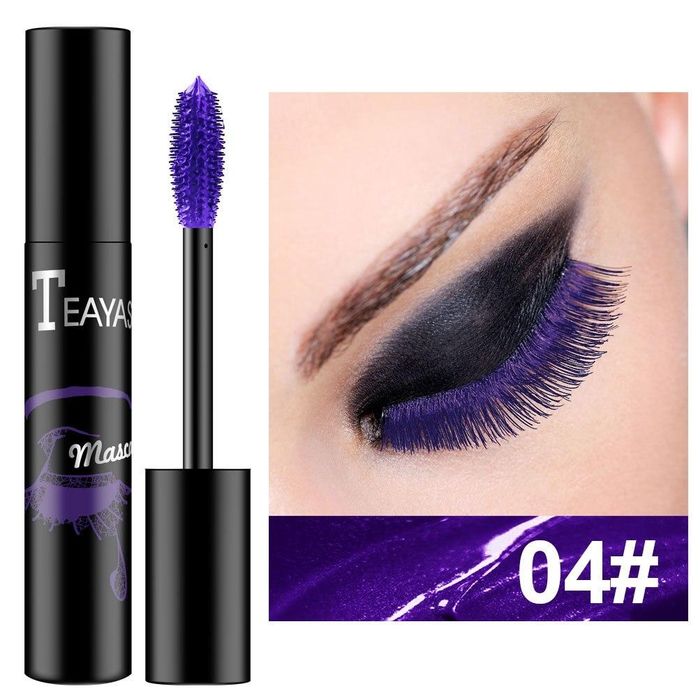 Профессиональная цветная тушь для макияжа, водостойкая, быстросохнущая, для завивки ресниц, удлинения, для макияжа, ресниц, синего, фиолетового цвета, тушь для ресниц TSLM1| |   - AliExpress