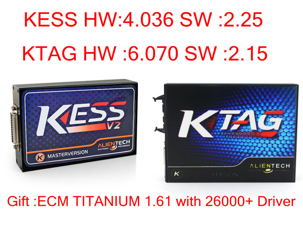 Newest  2.30 kess v2 OBD2 Manager Tuning Kit master+K-TAG 2.13  KTAG ECU Programming Tool No token limit auto ecu programmer