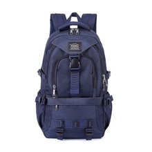 Classic Blue Schoolbag College Student Backpack Men Travel Backpack Laptop Backpack Business Trip Reserve for Business Travel