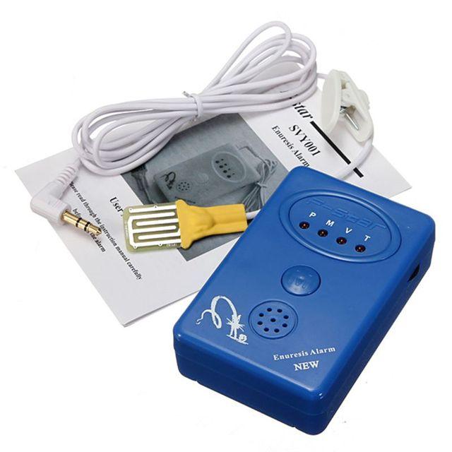 2016 Bebé y Adulto Bebé Enuresis Alarma Del Sensor Con Abrazadera Del Detector de Alarma de Alerta de la Enuresis Enuresis Orina Enuresis Alarma
