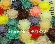 100 шт./лот 18 мм Разноцветные качество AAA смолы кабошоны цветок для украшения ювелирных изделий