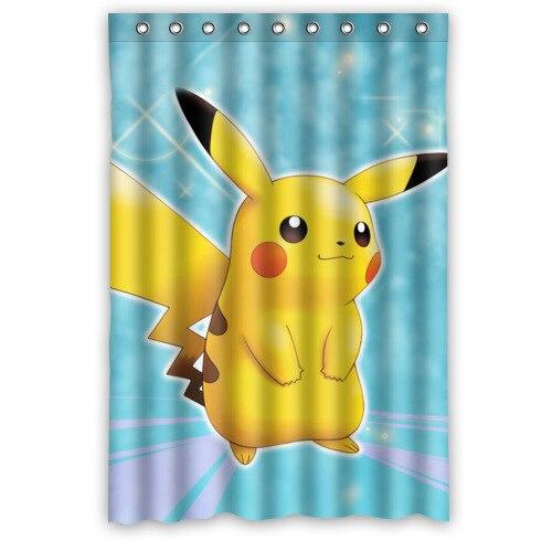 Cute Anime Pikachu Pokemon Shower Curtain