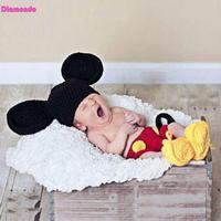 3 unids/set Newborn Fotografía Atrezzo Bebé Traje Infantil Del Bebé Recién Nacido Del Ganchillo Que Hace Punto Sombrero + Pantalones + Zapatos Trajes Encantadores para 0-4 M