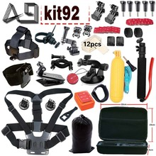 A9 for Gopro accessories set for action camera for Xiaomi yi 4k / Go pro 5 4 3 / SJCAM SJ9000 SJ4000 and Sony action camera