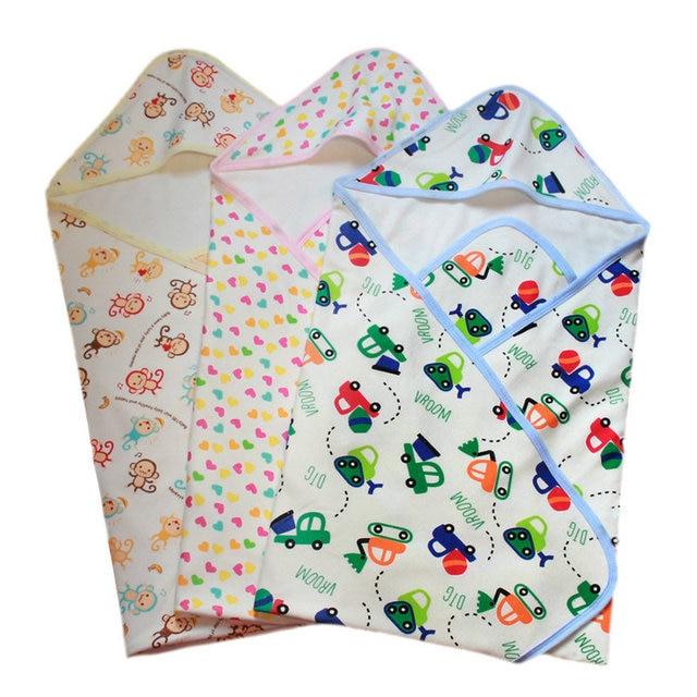 Детские Пеленание Одеяла Новорожденного Полотенце Wrap Parisarc Конверт Двойной Слой Хлопка Пеленать + CockedhatSAD-4042