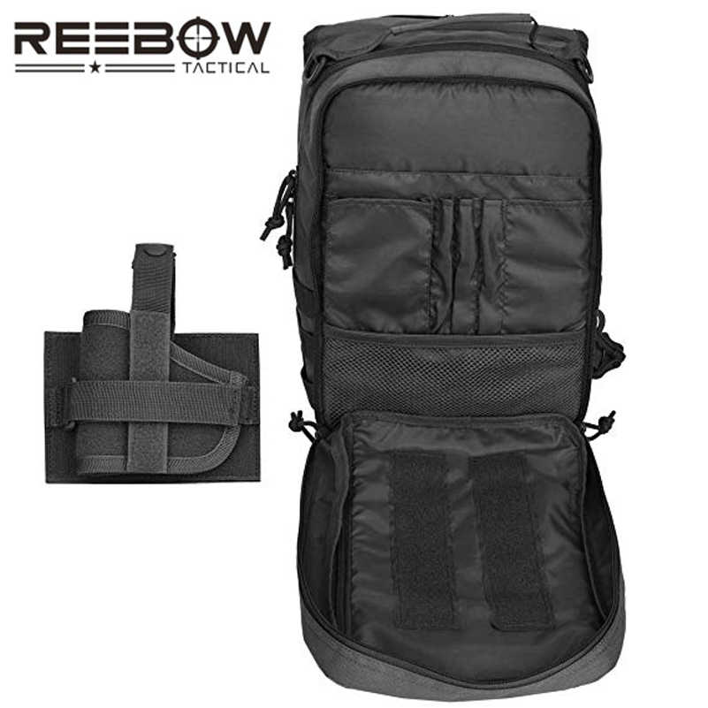 3186f8e98 ... Tactical Sling Bag Pack w/Gun Holster Small Military Rover Shoulder  Sling Backpack Molle Assault ...