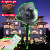 Spotlight Waterproof christmas lights decorati LED Snow Projector Holiday Light Rotating White Lawn Landscape Garden