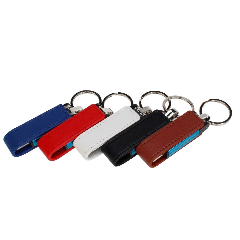 Usb Stick 32GB Pen Drive Leather Metal Keychain Usb Flash Drive 16GB 64GB 128G 4G 8G Pendrive High Speed U Disk Free Custom Logo (3)