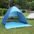 3 Colors  Portable 3 - 4 Person Outdoor Automatic Foldable Sun Shelter  UV Protection Pop Up Instant Quick Cabana Beach Tent