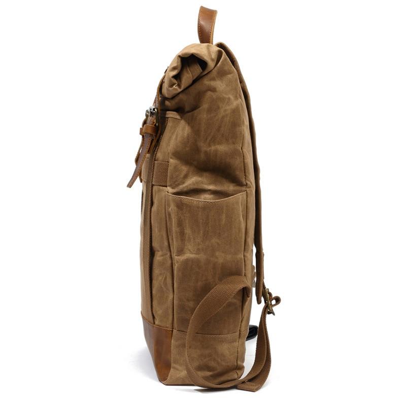 Кожаный мужской рюкзак BOSTANTEN, большие дорожные рюкзаки, школьный бизнес рюкзак 13 14 15 дюймов, рюкзак для ноутбука, сумка для компьютера с защи... - 3