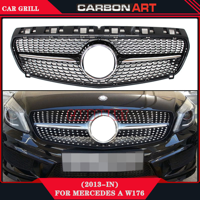 Mercedes Replacement Parts >> A Class W176 Grille Glossy Black Replacement For Mercedes Car