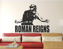 Superstar Wrestlers Vinyl Wall Stickers Roman Reigns Wall Decal Home Decor Boys Teens Room High Quality Wall Tattoo Mural SA566