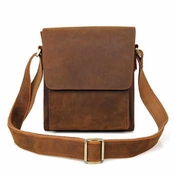 Retro Genuine Leather Messenger Bag Men\'s Quality Original First Layer Cowhide Bag Casual Business Simple Design Brand Package - DISCOUNT ITEM  23 OFF All Category