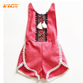 VICVIK Brand Girls Summer Jumpsuit Kids Fashion Sling Girl Set Baby Clothes Children Sport Suits Cotton Sleeveless Kids Clothes