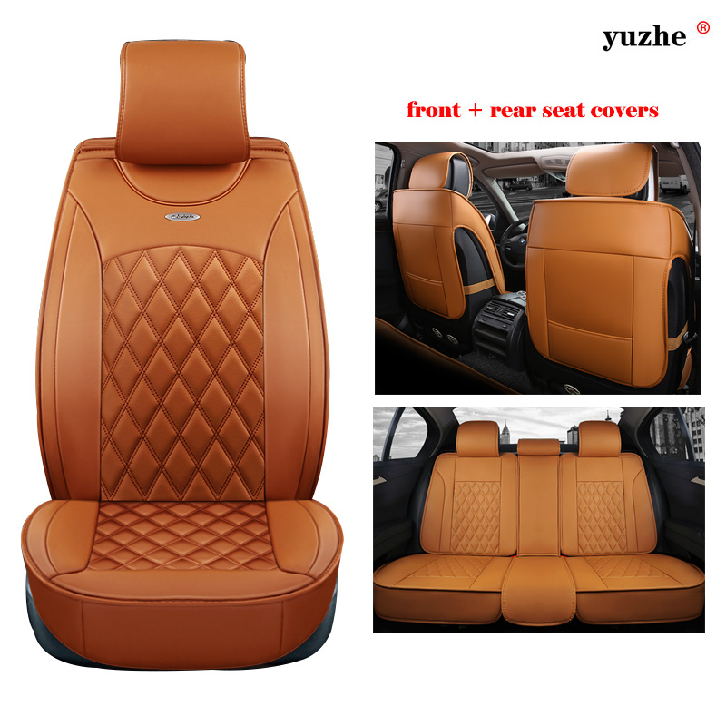 Yuzhe leather car seat cover For Renault Kadjar Koleos Captur Megane 2 3 Duster Kangoo Koloes Logan car accessories styling yuzhe auto automobiles leather car seat cover for renault megane 2 3 fluence scenic clio captur kadjar car accessories styling