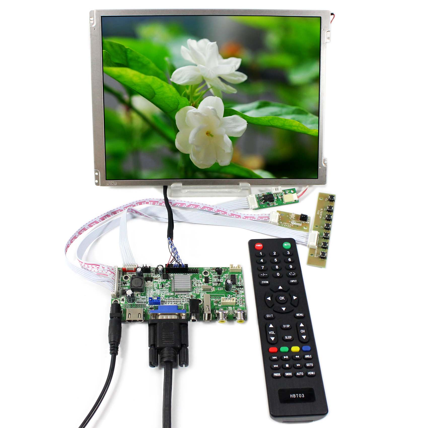 HDMI+VGA+AV+USB LCD Controller Board With 10.4inch 800x600 LED Backlight Replace G104SN03