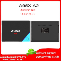 5pcs Android 6 0 TV BOX A95X A2 3GB 16GB 32GB ROM Set Top Box With