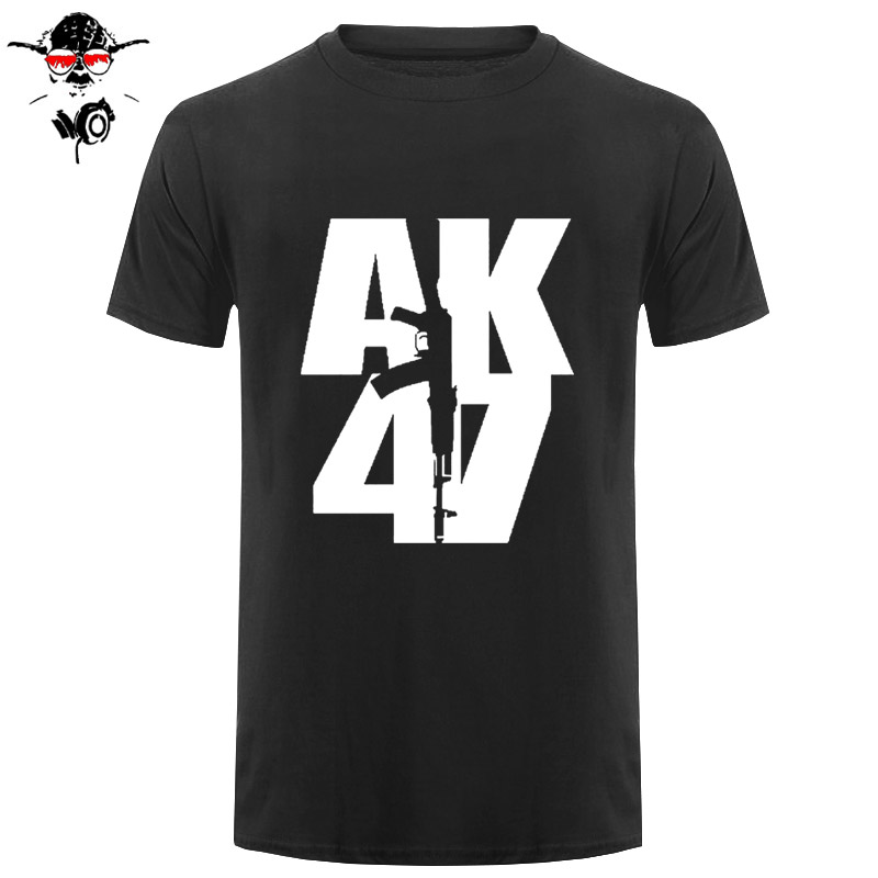 Short Sleeve Cotton Man Clothing Tops   T  -  Shirt   Homme My Life It's Ak 47 Russian Military Topics   T     Shirt   Sale