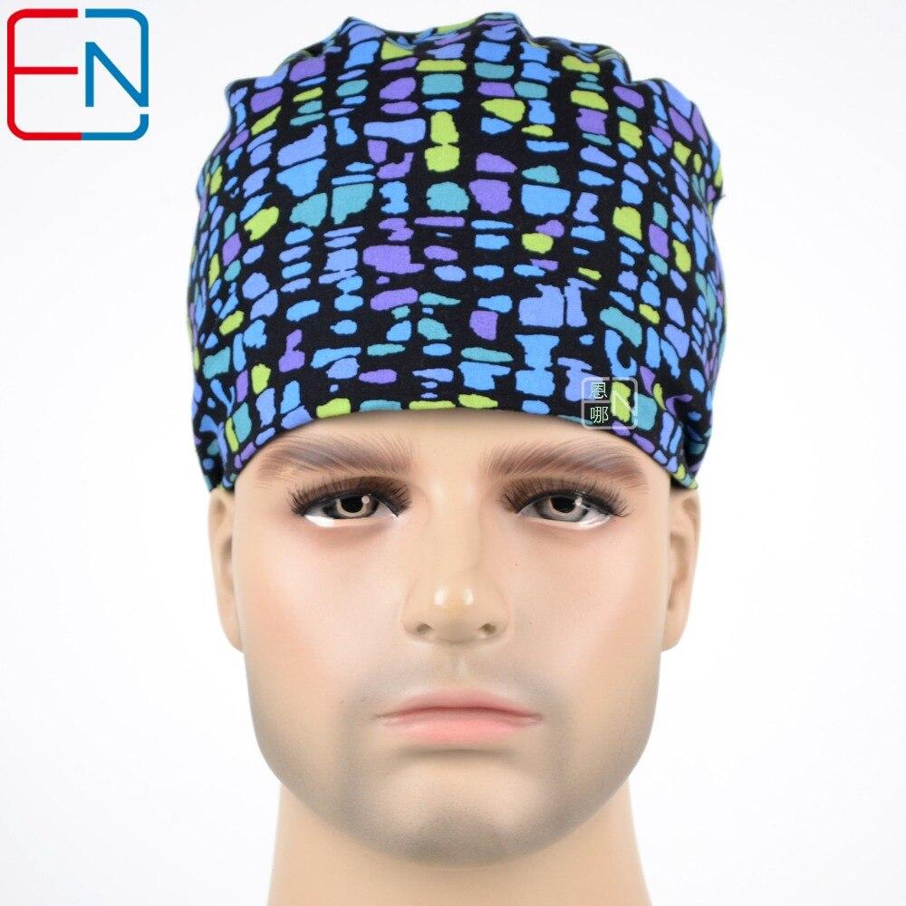 Fashion Style Bolle Colorate Tappi Chirurgici Per Medici E Infermieri Al 100% Berretto Di Cotone E Capelli Corti