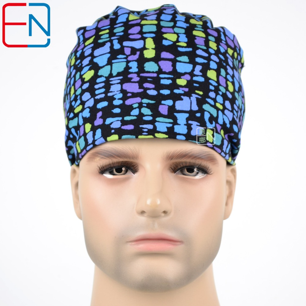 Colorful Bubbles  Surgical Caps For Doctors And Nurses 100% Cotton Cap And Short Hair