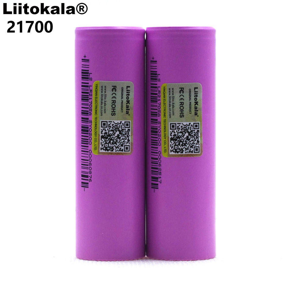 Liitokala 21700 Li-lon Battery 4000 MAh 3.7V 15A Discharge Rate Power 5C Ternary Car Lithium Battery Electric Battery DIY