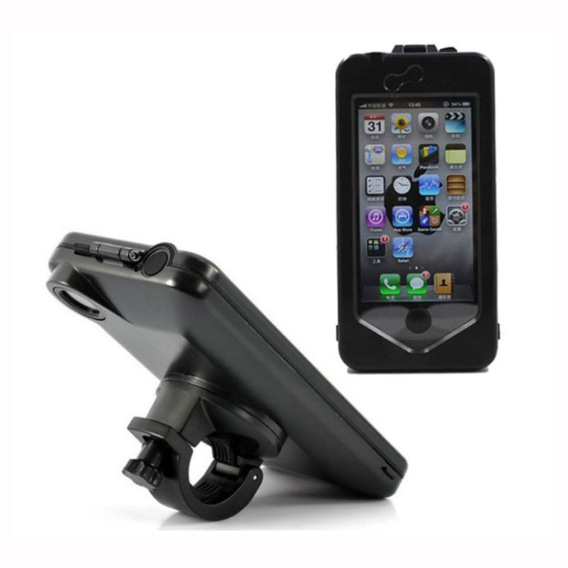 wholesale dealer 2510d 89dc8 US $13.75 |Waterproof Bike Case Coque Black Bicycle Handlebar Mount Holder  Impermeable Case Cover Pouch for iPhone 6 6S Plus-in Phone Pouch from ...