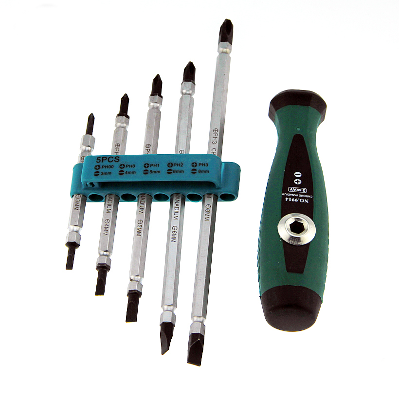 5-in-1 Screwdriver Combination Set Of Dual Chrome Vanadium Steel Screwdriver kit Hand Repair Opening Tools