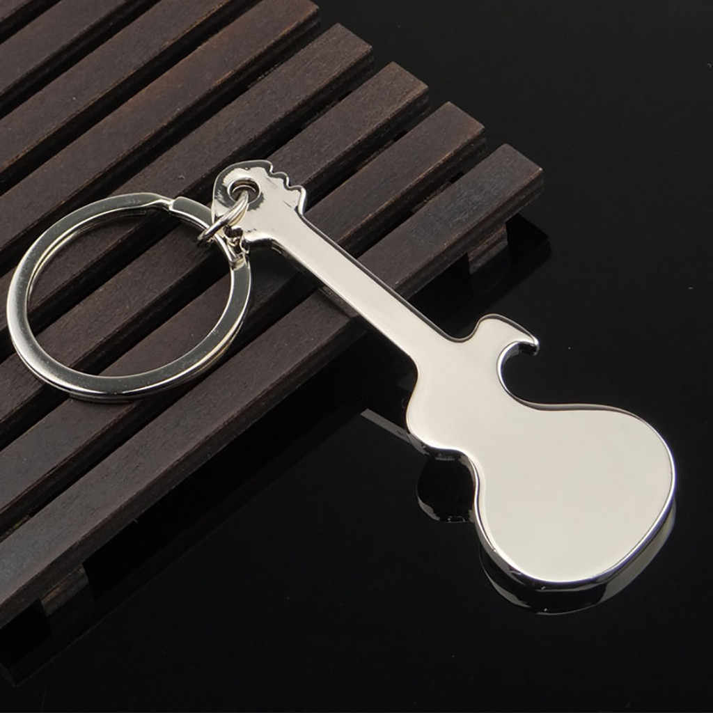 Карманный Маленький Металлический Сплав открывалка для бутылок пива инструмент брелок гитара брелок подарок для мужчин женщин брелок игрушка