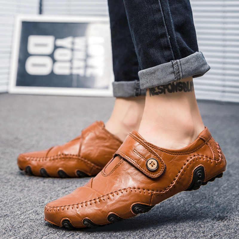ผู้ชายรองเท้าสบายๆใหม่ผู้ชาย Loafers รองเท้าหนังแท้รองเท้าผู้ชายรองเท้ารองเท้าผ้าใบรองเท้ารองเท้าผู้ชายรองเท้าแตะรองเท้าผ้าใบรองเท้า