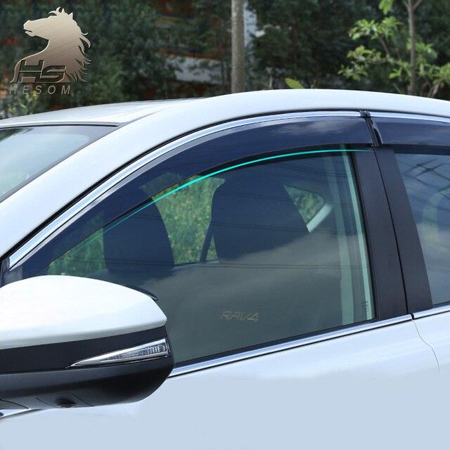 Для Toyota RAV4 2016 окно visor ABS Маркизы Навесы крышка дождя Внешний тела продукты украшения аксессуары 2015-2017