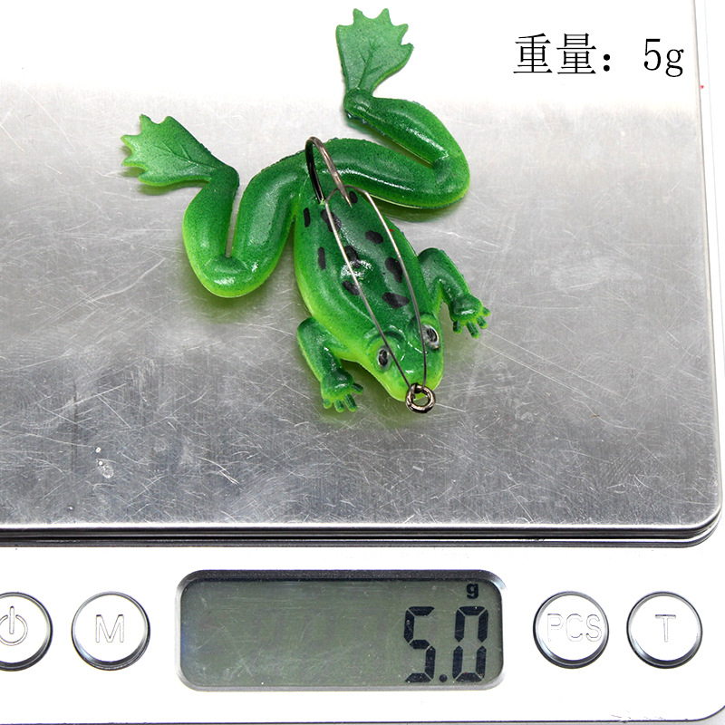 Image 3 - Thunder frog 5g 6cm Anti hanging bottom with hook soft frog Snakehead Fishing lure Swim Bait wobblers silicone fishing tackle-in Fishing Lures from Sports & Entertainment