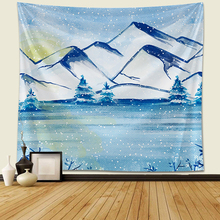Wall tapestry Snow mountain Forest Tapestry Wall Hanging Yoga Beach Towel Picnic Blanket Tablecloth Room decoration tapestry new printed wall hanging tapestry world map tapestry beach towel blanket carpet rectangular tablecloth room decorative tapestry