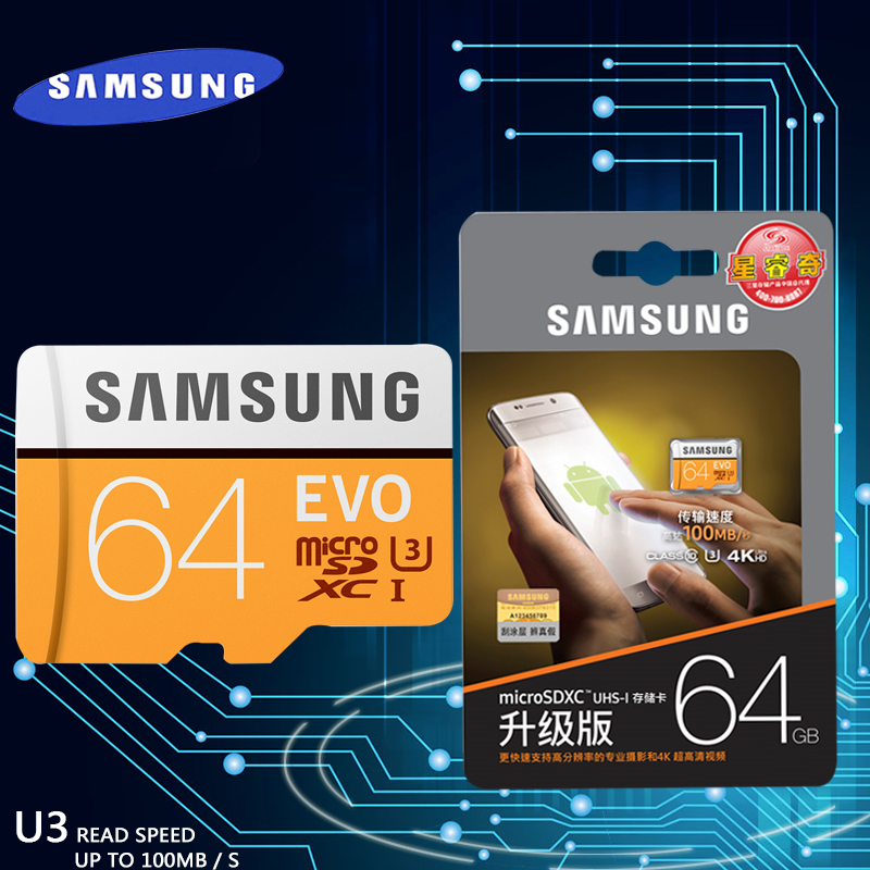 SAMSUNG New EVO Memory Card 16GB/32GB/SDHC 64GB/128GB/256GB/SDXC TF Flash Card Micro SD Cards UHS-I Class10 C10 U3 free shipping samsung micro sd card memory card evo plus 256gb 128gb 64gb 32gb 16g class10 tf card c10 sim card 100mb s sdhc sdxc uhs i128gb